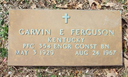 FERGUSON (VETERAN), GARVIN E - Clinton County, Kentucky | GARVIN E FERGUSON (VETERAN) - Kentucky Gravestone Photos