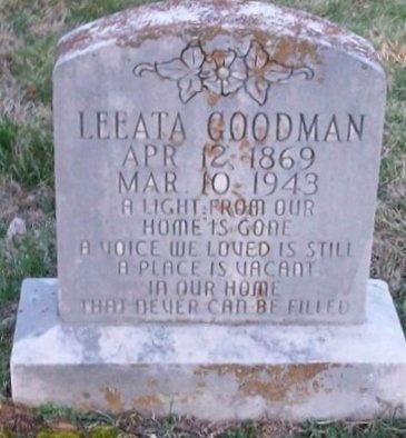 GOODMAN, LEEATA - Clinton County, Kentucky | LEEATA GOODMAN - Kentucky Gravestone Photos