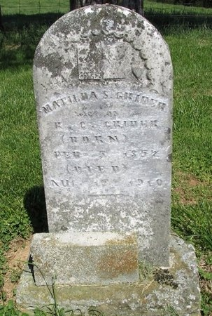 GRIDER, MATILDA S - Clinton County, Kentucky | MATILDA S GRIDER - Kentucky Gravestone Photos