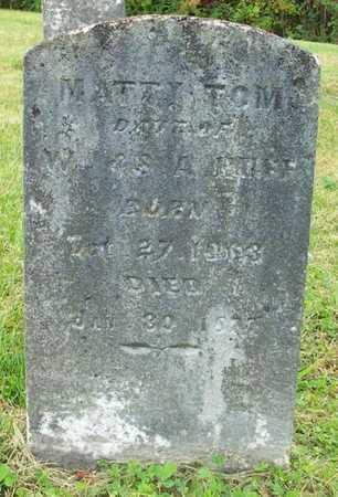 HUFF, MATTY TOM - Clinton County, Kentucky | MATTY TOM HUFF - Kentucky Gravestone Photos