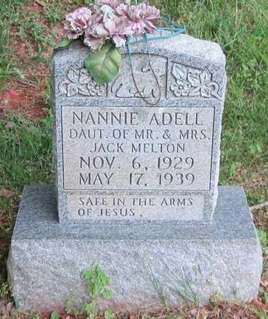 MELTON, NANNIE ADELL - Clinton County, Kentucky   NANNIE ADELL MELTON - Kentucky Gravestone Photos