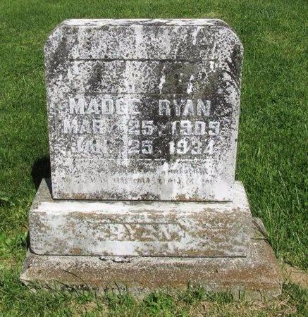 RYAN, MADGE - Clinton County, Kentucky   MADGE RYAN - Kentucky Gravestone Photos