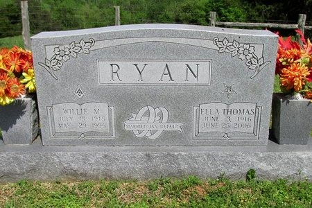 RYAN, WILLIE M - Clinton County, Kentucky | WILLIE M RYAN - Kentucky Gravestone Photos