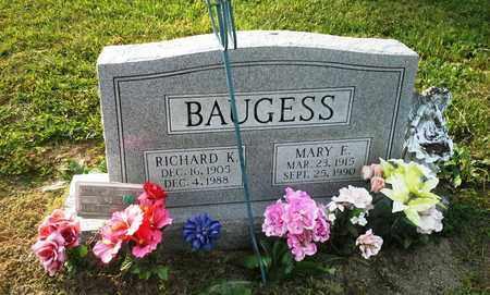 BAUGESS, RICHARD K - Elliott County, Kentucky | RICHARD K BAUGESS - Kentucky Gravestone Photos
