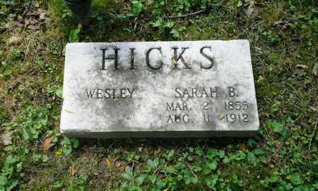 HICKS, SARAH B - Elliott County, Kentucky   SARAH B HICKS - Kentucky Gravestone Photos