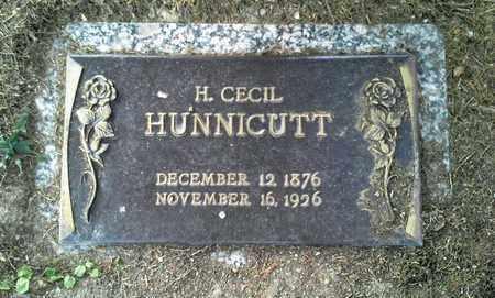 HUNNICUTT, H CECIL - Elliott County, Kentucky | H CECIL HUNNICUTT - Kentucky Gravestone Photos