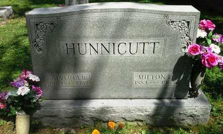 HUNNICUTT, ALVERTA B - Elliott County, Kentucky | ALVERTA B HUNNICUTT - Kentucky Gravestone Photos