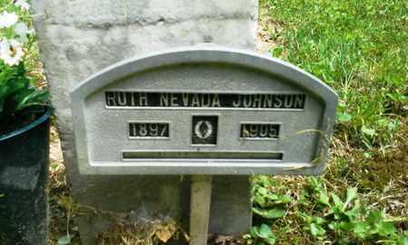 JOHNSON, RUTH NEVADA - Elliott County, Kentucky | RUTH NEVADA JOHNSON - Kentucky Gravestone Photos