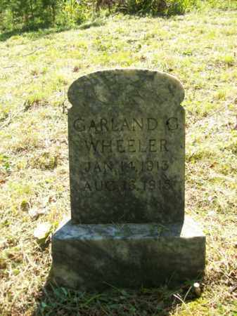 WHEELER, GARLAND G - Elliott County, Kentucky | GARLAND G WHEELER - Kentucky Gravestone Photos