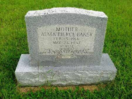 PIERCE BAKER, ALMA - Fleming County, Kentucky   ALMA PIERCE BAKER - Kentucky Gravestone Photos