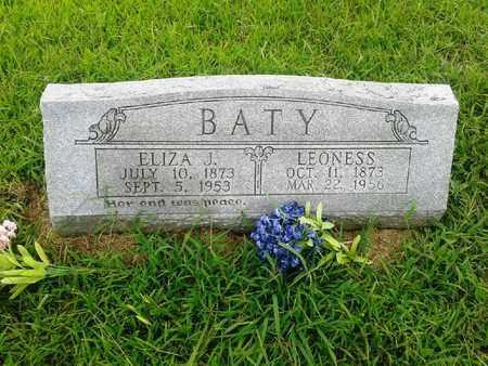BATY, ELIZA J - Fleming County, Kentucky   ELIZA J BATY - Kentucky Gravestone Photos