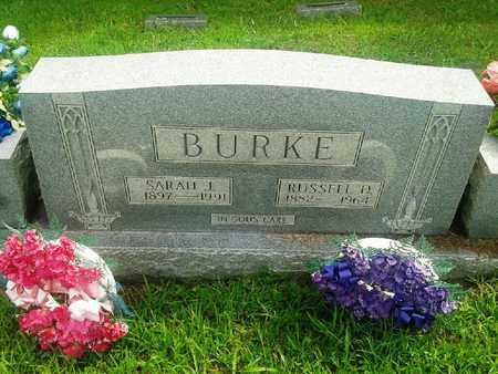 BURKE, SARAH J - Fleming County, Kentucky | SARAH J BURKE - Kentucky Gravestone Photos