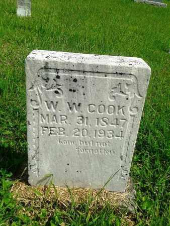 COOK, W W - Fleming County, Kentucky | W W COOK - Kentucky Gravestone Photos