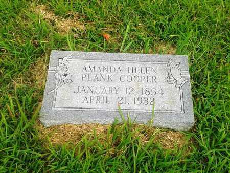 PLANK COOPER, AMANDA HELEN - Fleming County, Kentucky | AMANDA HELEN PLANK COOPER - Kentucky Gravestone Photos