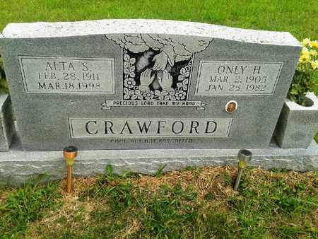 CRAWFORD, ONLY S - Fleming County, Kentucky | ONLY S CRAWFORD - Kentucky Gravestone Photos
