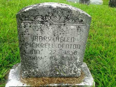 PICKRELL DENTON, MARY HELEN - Fleming County, Kentucky | MARY HELEN PICKRELL DENTON - Kentucky Gravestone Photos