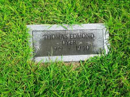 DYER, THOMAS EDMOND - Fleming County, Kentucky | THOMAS EDMOND DYER - Kentucky Gravestone Photos