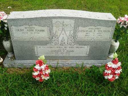 HAMM VELARDE, DEBORAH F - Fleming County, Kentucky | DEBORAH F HAMM VELARDE - Kentucky Gravestone Photos