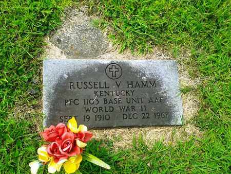 HAMM (VETERAN WWII), RUSSELL V - Fleming County, Kentucky | RUSSELL V HAMM (VETERAN WWII) - Kentucky Gravestone Photos