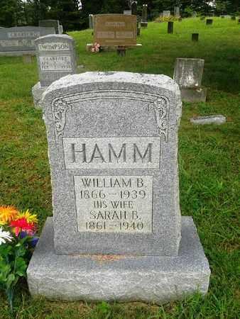 HAMM, SARAH B - Fleming County, Kentucky | SARAH B HAMM - Kentucky Gravestone Photos