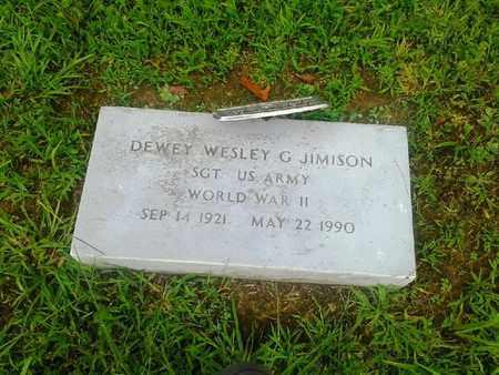 JIMISON (VETERAN WWII), DEWEY WESLEY G - Fleming County, Kentucky | DEWEY WESLEY G JIMISON (VETERAN WWII) - Kentucky Gravestone Photos