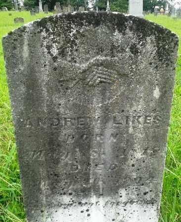 LIKES, ANDREW - Fleming County, Kentucky   ANDREW LIKES - Kentucky Gravestone Photos