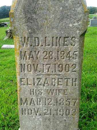 LIKES, W D - Fleming County, Kentucky   W D LIKES - Kentucky Gravestone Photos