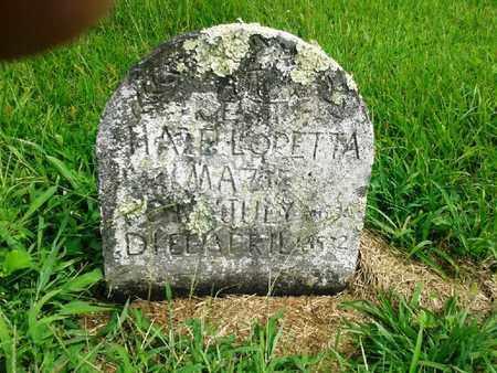 MAZIE, HAZEL LORETTA - Fleming County, Kentucky | HAZEL LORETTA MAZIE - Kentucky Gravestone Photos