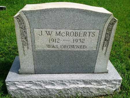 MCROBERTS, J W - Fleming County, Kentucky   J W MCROBERTS - Kentucky Gravestone Photos
