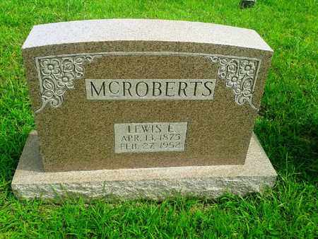 MCROBERTS, LEWIS E - Fleming County, Kentucky | LEWIS E MCROBERTS - Kentucky Gravestone Photos
