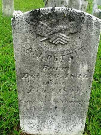 PETTIT, A J - Fleming County, Kentucky | A J PETTIT - Kentucky Gravestone Photos