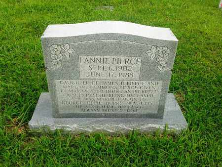 PIERCE, FANNIE - Fleming County, Kentucky | FANNIE PIERCE - Kentucky Gravestone Photos
