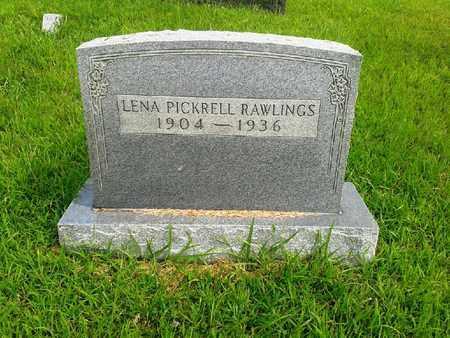 PICKRELL RAWLINGS, LENA - Fleming County, Kentucky | LENA PICKRELL RAWLINGS - Kentucky Gravestone Photos