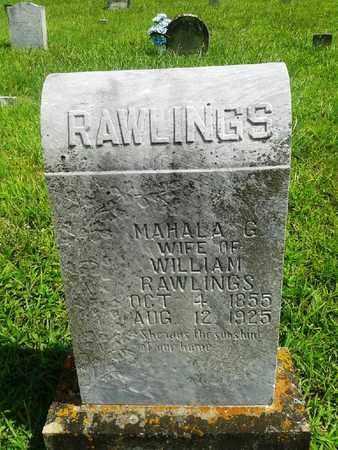 RAWLINGS, MAHALA G - Fleming County, Kentucky | MAHALA G RAWLINGS - Kentucky Gravestone Photos