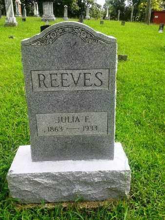 REEVES, JULIA F - Fleming County, Kentucky | JULIA F REEVES - Kentucky Gravestone Photos