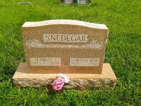 SNEDEGAR, MARTHA ANN - Fleming County, Kentucky | MARTHA ANN SNEDEGAR - Kentucky Gravestone Photos