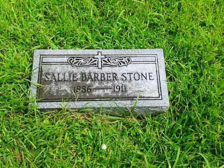 BARBER STONE, SALLIE - Fleming County, Kentucky | SALLIE BARBER STONE - Kentucky Gravestone Photos