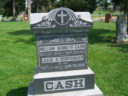 CURTSINGER CASH, JULIA A. - Graves County, Kentucky | JULIA A. CURTSINGER CASH - Kentucky Gravestone Photos