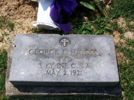 HAYDEN (VETERAN CSA), GEORGE E. - Graves County, Kentucky | GEORGE E. HAYDEN (VETERAN CSA) - Kentucky Gravestone Photos
