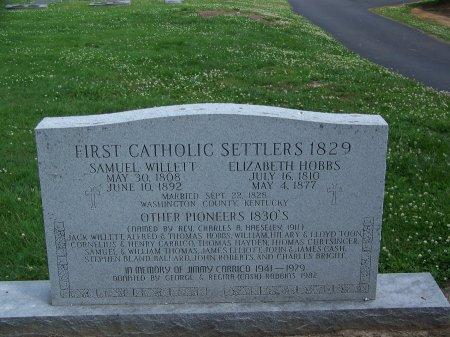 WILLETT, SAMUEL - Graves County, Kentucky | SAMUEL WILLETT - Kentucky Gravestone Photos