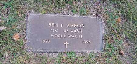 AARON (VETERAN WWII), BEN F - Green County, Kentucky | BEN F AARON (VETERAN WWII) - Kentucky Gravestone Photos