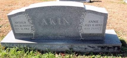 AKIN, ANNIE - Green County, Kentucky   ANNIE AKIN - Kentucky Gravestone Photos