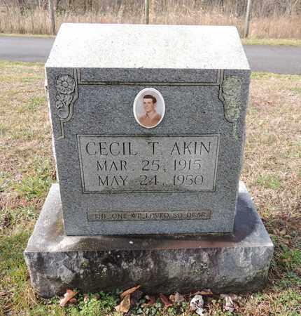 AKIN, CECIL THOMAS - Green County, Kentucky | CECIL THOMAS AKIN - Kentucky Gravestone Photos