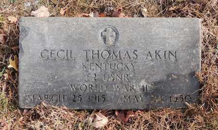 AKIN (VETERAN WWII), CECIL THOMAS - Green County, Kentucky | CECIL THOMAS AKIN (VETERAN WWII) - Kentucky Gravestone Photos