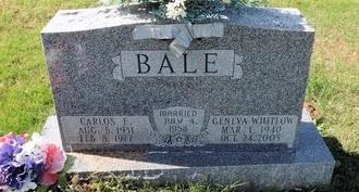 BALE, GENEVA FAYE - Green County, Kentucky | GENEVA FAYE BALE - Kentucky Gravestone Photos