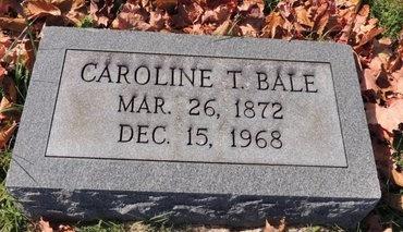 BALE, CAROLINE T - Green County, Kentucky | CAROLINE T BALE - Kentucky Gravestone Photos