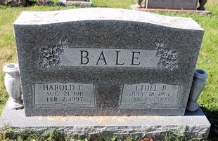 BRADSHAW BALE, ETHEL - Green County, Kentucky | ETHEL BRADSHAW BALE - Kentucky Gravestone Photos
