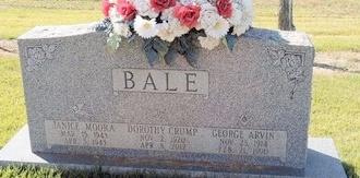 BALE, JANICE MOORA - Green County, Kentucky   JANICE MOORA BALE - Kentucky Gravestone Photos