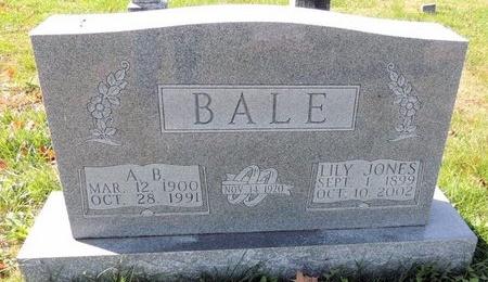 JONES BALE, LILY MARY - Green County, Kentucky   LILY MARY JONES BALE - Kentucky Gravestone Photos