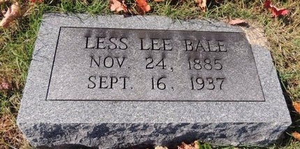 BALE, LESS LEE - Green County, Kentucky | LESS LEE BALE - Kentucky Gravestone Photos